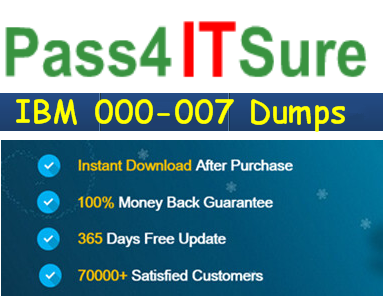 pass4itsure 000-007 dumps exam